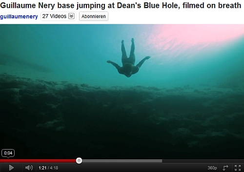 FREE FALL: World champion freediver Guillaume Nery special dive at Dean's Blue Hole...